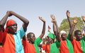 At a colourful peace rally in Aweil, UNMISS urges commitment to the revitalised peace agreement