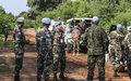 Peacekeeping patrol helps deter violence on troubled road to Yei