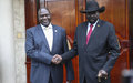 Kiir and Machar meet in what's seen as 'commitment to peace'