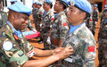 UNMISS Chinese contingents in Wau awarded UN medals