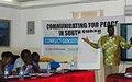 Rumbek media professionals learn conflict-sensitive reporting