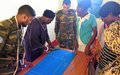 UNMISS Bangladeshi peacekeepers teach women how to make dresses to impress