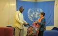 UNMISS buys face masks produced by UN-trained internally displaced people in Bentiu