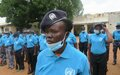Women police officers from South Sudan join hands with UNPOL to walk for peace in Aweil
