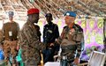 UNMISS force commander briefed by sector commander of opposition troops in Lirangu