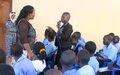 Female students in Torit receive training on menstrual hygiene management