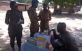 Inmates and prison officers in Bentiu receive medical treatment by UN peacekeepers