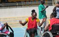 Persons with disabilities participate in wheelchair basketball game in Juba in double celebration