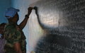 In the absence of teachers, UN peacekeepers step in to teach at Aweil Secondary School