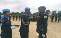 Rwandese police unit in Malakal awarded medals for peacekeeping services