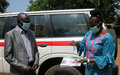 COVID-19 taskforce committee in Torit receives ambulance from UNMISS