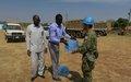 UNMISS peacekeepers revamp the University of Juba football ground