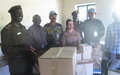 Inmates in Malakal receive lifesaving medical supplies from UNMISS peacekeepers