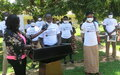 Youth in Eastern Equatoria receive UNMISS support for their COVID-19 prevention drive