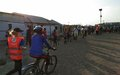 A biking chance: Indian peacekeepers teach girls in the Malakal protection site to ride bicycles