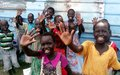 Fuel-efficient fire helps feeding school children as UN peacekeepers rebuild kitchen in Malakal