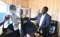 Kuajok market benefits from UNMISS handover of COVID-19 prevention items