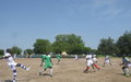 UN peacekeepers support local football club to foster inter-ethnic cohesion in Rajaf