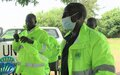 UNPOL hands over waterproof jackets to Police Community Relations Committees in Torit
