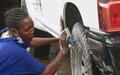 Women car washers at UNMISS hope to become entrepreneurs in a peaceful South Sudan