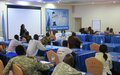 UNMISS educates child protection committee on how to implement plan to end children's association with armed forces