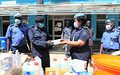 UNMISS donates COVID-19 personal protection equipment to South Sudanese police