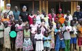 Peacekeepers celebrate the arrival of 2018 at orphanage near Torit