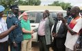 Police force in Rumbek prepared for car chases as UNMISS donates vehicle