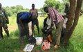 Local communities in Lafon help humanitarian partners recover stolen items following recent ambush