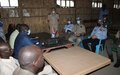 UNMISS Deputy Police Commissioner visits displaced persons camp in Bentiu