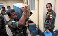 Sri Lankan peacekeepers share time, meals and other gifts with patients at Bor hospital