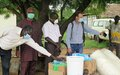 UNMISS hands over antibacterial soaps and hand washing buckets to support Eastern Equatorian communities