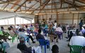 Health experts inform internally displaced people at UNMISS protection site in Malakal how to prevent COVID-19