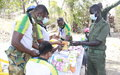 UN peacekeepers provide free medical services to soldiers and civilians in Moum, Unity State