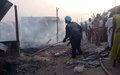 UN Peacekeepers speedily contain fire outbreak in Bentiu Market for displaced people