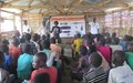 UNMISS and partners educate school children in Bentiu PoC site on dangers of mines