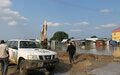 UNMISS engineering troops battling flooding in Bor and beyond as 135,000 people are displaced