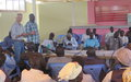 UNMISS Malakal facilitates mini dialogue between IDPs and local leaders from outside the camp