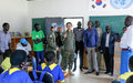 UNMISS peacekeepers donate school materials and renovate primary school in Bor