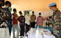 UNMISS veterinarians mark World Veterinary Day with a free camp for livestock owners in Malakal