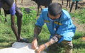 UNMISS vets bring health and joy to cattle and their owners in Wau