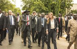 UN Security Council meets with Salva Kiir, President of the Republic of South Sudan