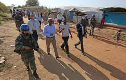 Assistant Secretary-General for Peacekeeping Operations visits PoC sites 1 and 3
