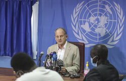 UNMISS David Shearer Press Conference Juba