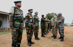 Military Adviser to USG Peacekeeping Operations Lt. Gen. Loitey visits UNMISS Malakal office