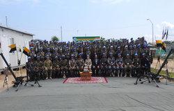 INBATT 2 Peacekeepers pose with guests of honor