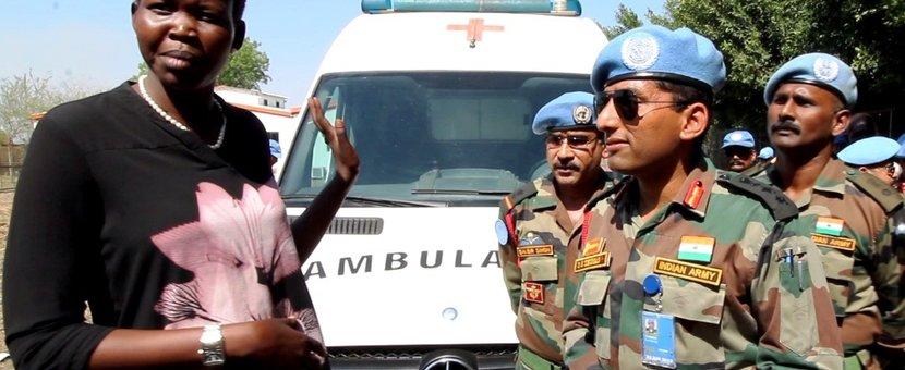 unmiss south sudan jonglei bor health institute renovation ambulance training health personnel