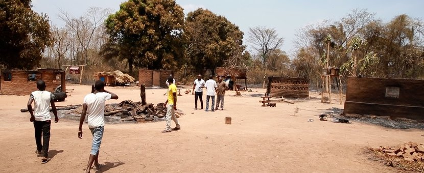 unmiss south sudan western equatoria nzara county wildfire assessment humanitarian assistance displaced people destruction