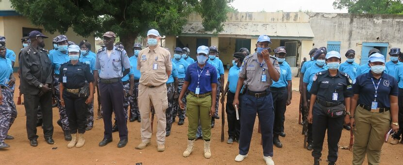 UNMISS UNPOL South Sudan National Police Service police officers women peace security law and order