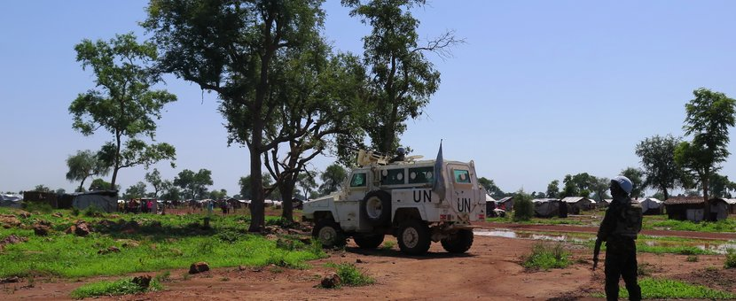 Confidence-boosting role played by UN peacekeepers in South Sudan refugee settlements